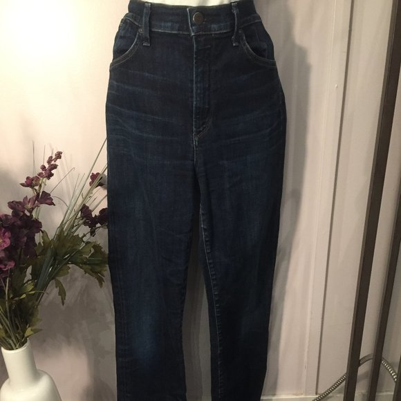 Citizens of Humanity Blue High Rise Straight Jeans